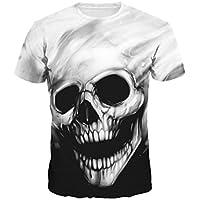 Camiseta de los Hombres,RETUROM Cráneo del Cráneo Que Imprimen Camiseta Camiseta de Manga Corta Camiseta Blusa Tops