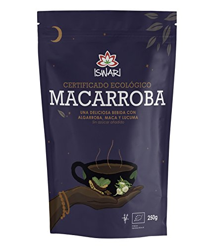Macarroba bio Iswari (Algarroba, maca, lúcuma y canela) 250g.