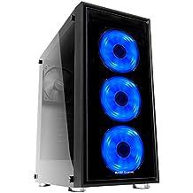 Mars Gaming MC7 - Caja de ordenador gaming (semitorre, ATX, incluye 3 ventiladores