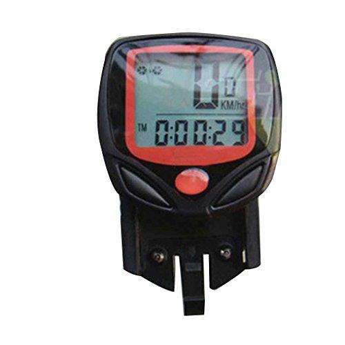 Censhaorme Pantalla LCD de montaña de la Bicicleta del velocímetro del odómetro computadora del Ciclo de múltiples Funciones del Metro de la Bici