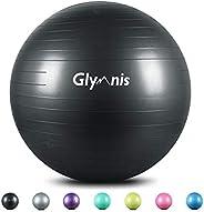 Glymnis Palla Fitness Palla da Ginnastica 55cm/65cm/75cm Anti-Scoppio Carico Massimo di 300kg, Palla Yoga Anit