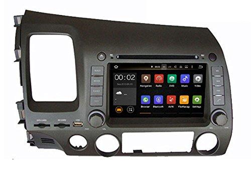 17,8cm Android Auto DVD Player mit GPS 3G/WIFI/BT, unterstützt Kamera, Lenkradfernbedienung, USB/SD AUX, Audio Radio Stereo, Car Multimedia Haupteinheit für Honda Civic 200620072008200920102011
