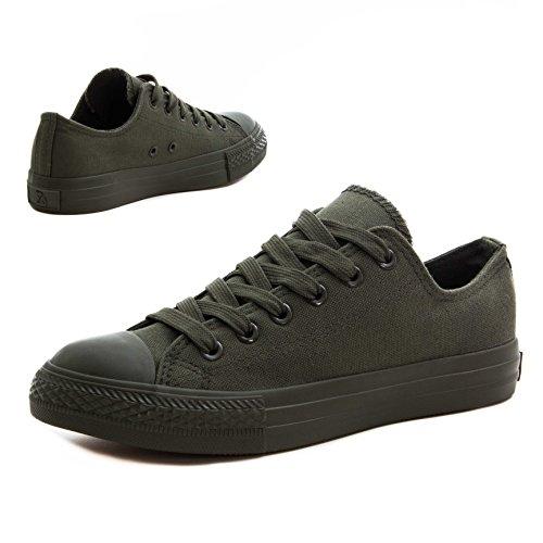 Classiche Scarpe Da Donna Unisex Basse Sneakers Basse Alte In Tutto Verde