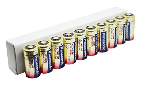 Panasonic PACR123A_10 Photo Lithium Batterie (3 Volt, 10-er Pack) (3-volt-batterien)
