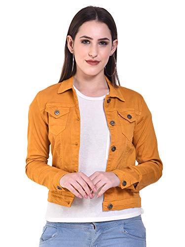 Sangani Women's Cotton Stretch Casual Jacket (Mustard, 34)