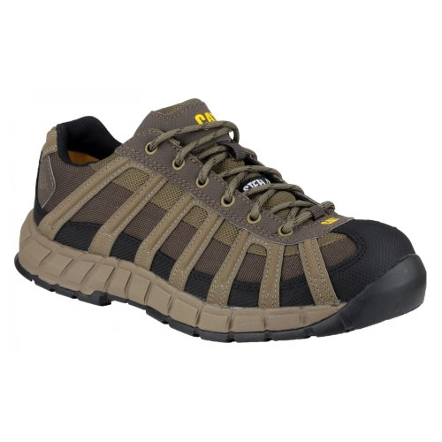 Caterpillar Mens Switch S1 Safety Work Shoes Brown brown