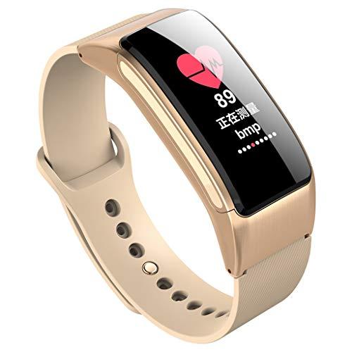 Makalon B31 Smart Bracelet Bluetooth Appelez Bracelet Casque 2 en 1 Montre Intelligente,Fitness Calorie Montre Intelligente,Surveillance du Sommeil,Calcul des Calories,Montre De Sport Intelligente