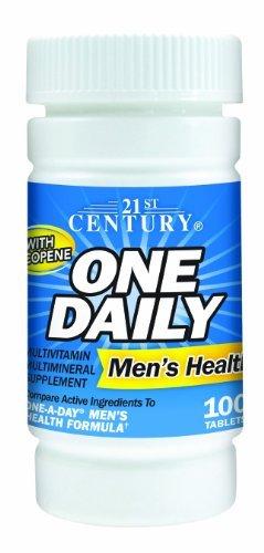 Preisvergleich Produktbild 21st Century One Daily Men's Health Tablets,  100 Count by 21st Century