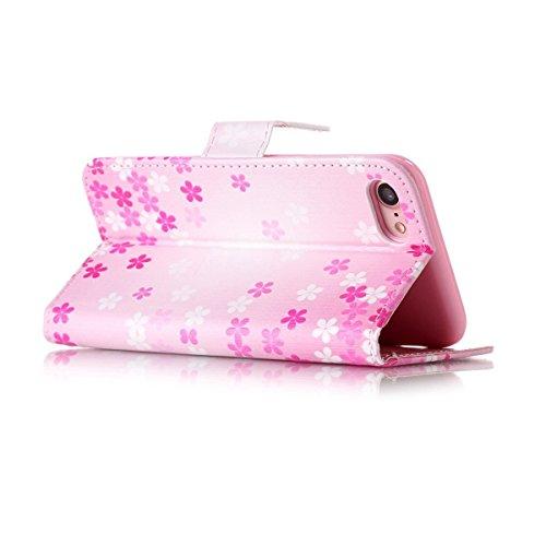 Coque Etui pour iPhone 7,Coque Portefeuille PU Cuir Etui pour iPhone 7,Flip Protective Cover Leather Wallet Case pour iPhone 7,iPhone 7 Coque Fille,Coque Fleur Etui pour iPhone 7,EMAXELERS iPhone 7 4. Girl 11
