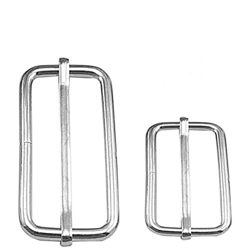 40 Adjustable Metal Units Buckle Slider BlueXp 25mm 38mm Bag Luggage Backpack Pin Roller Buckles Slider Silver