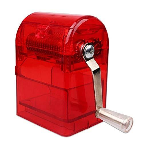 HHOME Home Mills Trituradora de manivela Trituradora de Tabaco Trituradora Trituradora de Mano Trituradora Picadora para Fumar, roja