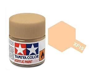 Tamiya XF15 : flacon de peinture 10 ml - XF15 Chair mat