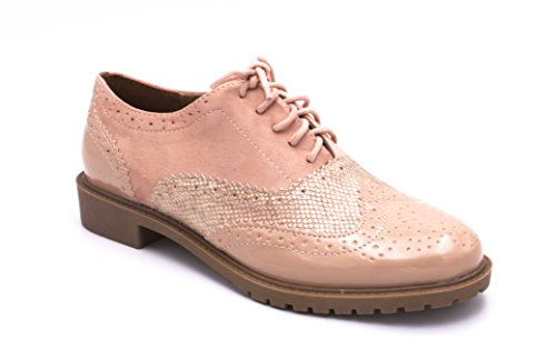 Oui Fashion, Scarpe Stringate Da Donna Rosa