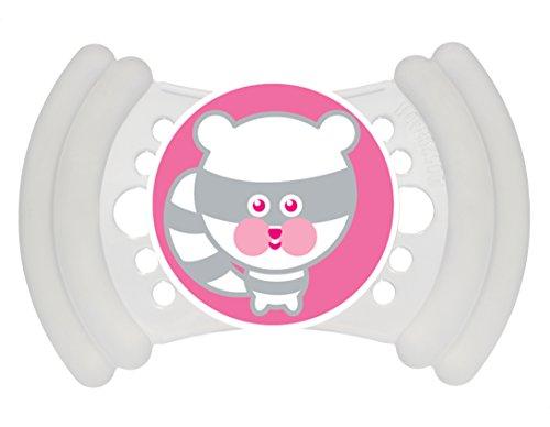 MAM Schnuller Soft Silikon 6-16 Monate, 1 Stück (Weiß - Panda)