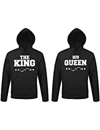 TRVPPY - Couple Partenaire 2X Sweat Pull à Capuche modèle The King   His  Queen pour Homme  … 0dbe4060004c