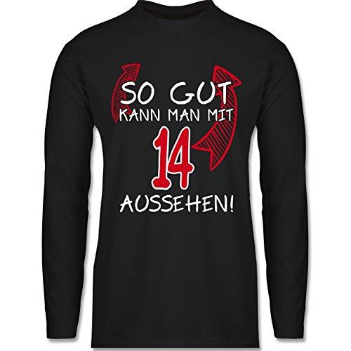 Geburtstag - So Gut Kann Man mit 14 Aussehen - Herren Langarmshirt Schwarz