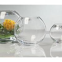 Globe - Vaso trasparente rotondo di Sandra Rich, Vetro, trasparente,