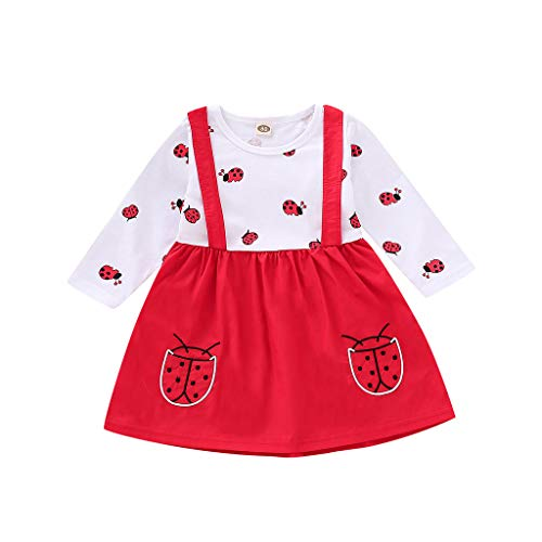 bobo4818 Baby Mädchen Kleidung Set 2 Stück Langarm Marienkäfer Muster Kleinkind Outfits for 6M-3 Jahre