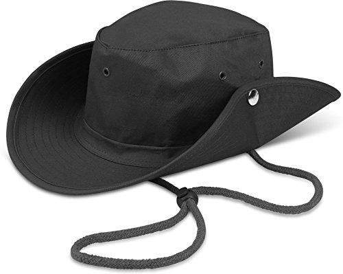 er Outdoor Safari Dschungel Buschhut von normani® Farbe Schwarz Größe 59 (Safari Hüte)