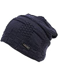 GIANMARCO VENTURI Cappello uomo 100% acrilico zuccotto senza risvolto 61923  blu c537eb487370