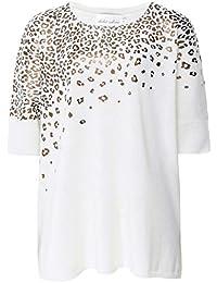 0b76397973d568 Absolut Cashmere Women's Cashmere Leopard Foil Jumper Cream