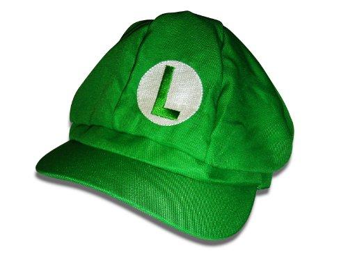 Super Mario Gorro–variantes Luigi Wario (Peaches Disfraz Cap Sombrero Gorro, rubia Party Nintendo Luigi