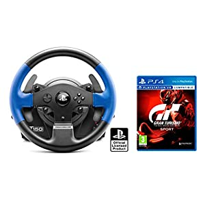 "PS4 Lenkrad Orig. Licensed Playstation 4 Thrustmaster T150 RS ""Force Feedback"" + Gran Turismo Sport ""GT Sport"""