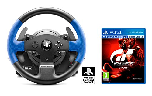 "PS4 Lenkrad Orig. Licensed Playstation 4 Thrustmaster T150 RS ""Force Feedback\"" + Gran Turismo Sport \""GT Sport\"""