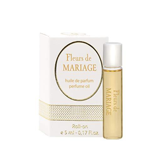 0.17 Miniatur (Fleurs de MARIAGE Parfüm Öl Rollerball für Damen + 5 ml Roll-on Miniatur + Beste Hochzeit Parfüm Geschenkidee + Aroma des wundervollen Festes)