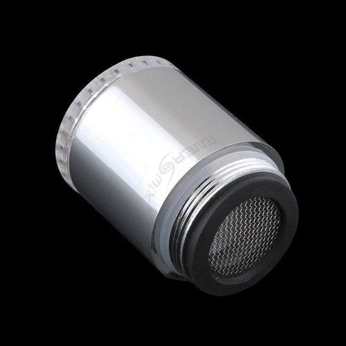 Wasserhahn-Aufsatz mit automatischem Farbwechsler durch Wasserkraft - LED Farbwechsler LED Shower mit Beleuchtung -