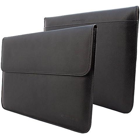 Snugg™- Funda de cuero para Apple MacBook Air 11, color negro (Garantía de por vida)