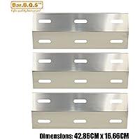 bar. b.q.s 99341(3-Pack) parrilla de recambio para ducane Gas placa de calor Shield Acero de porcelana Modelos: 30400040, 30400045, 30400046, 3200, 3400, 4200, S3200, S5200
