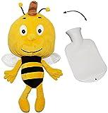 alles-meine.de GmbH Set: großes XL Kuscheltier incl. Wärmeflasche -  die Biene Willi / von Biene Maja  - mit Plüsch Bezug - Wärmflasche - wärmen + kühlen - Kinderwärmflasche - ..