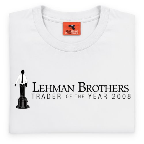Square Mile Lehman Brothers T-shirt, Uomo Bianco