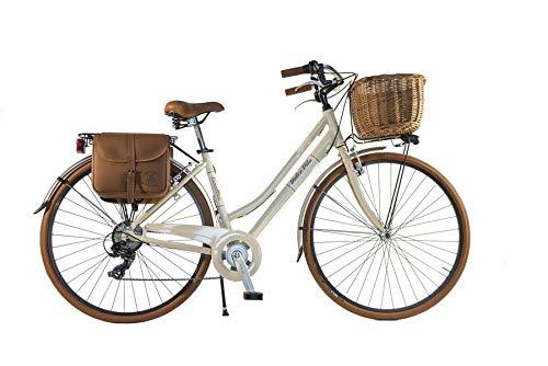 Canellini Via Veneto by Fahrrad Rad Citybike CTB Frau Vintage Retro Dolce Vita Aluminium Beige (50)