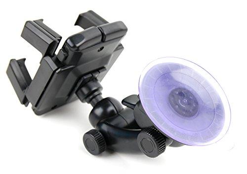 DURAGADGET Auto-Halterung mit Kugelgelenk für Lüftungsschlitz und Frontscheibe für Caterpillar CAT S61 | S41 | S31 Outdoor-Smartphones
