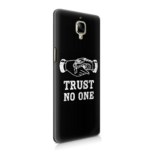 Trust No One Black Tumblr Quote Plastic Phone Case Cover Shell For OnePlus 3 Custodia