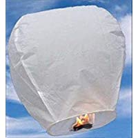 A LIITTLE TREE A 10X White Eco-Friendly Sky Lanterns Christmas, Chinese New Year Parties, Celebrations, Events
