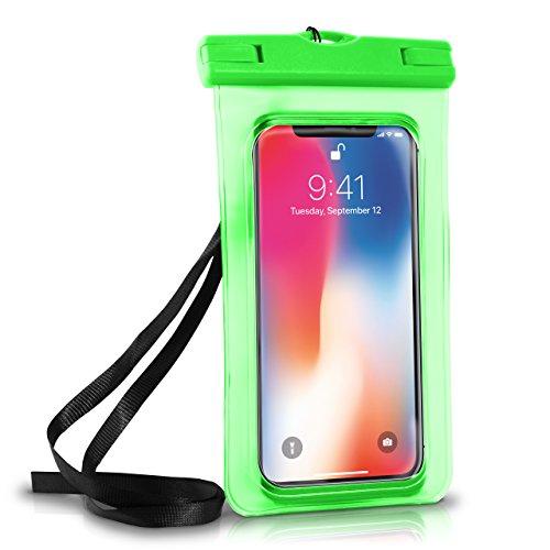 Wasserdichte Hülle iPhone Full Cover in Grün OneFlow 360° Unterwasser-Gehäuse Touch Schutzhülle Water-Proof Handy-Hülle für Apple iPhone X 8 7 7Plus/8Plus 6S 6 Plus 5 5S Case Handy-Schutz