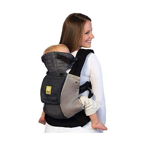 LÍLLÉbaby  Complete Airflow 6-in-1 Baby Carrier, Grey/Silver Lillebaby Made from breathable mesh fabric to help keep parent and child cool and comfortable and with 6 carrying positions - Foetal, infant inward, outward, toddler inward, hip, back - The only carrier you'll ever need! Suitable from 3.2- 20kg (birth to approx. 4 years old), providing extended comfortable use for parent and child with no additional infant support required for new-borns - the ergonomic adjustable seat is acknowledged as 'hip-healthy' by the International Hip Dysplasia Institute Unique spacious head support with elasticated straps - soothes infants with gentle lulling motion and provides excellent support as children grow 7