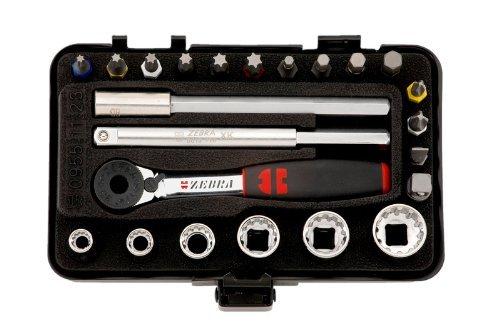 Würth Zebra 0,64cm Multi Schlüssel + 23-teiliges Mini mit Ratsche + Aktenkoffer für schmale Zimmer Multi Zebra