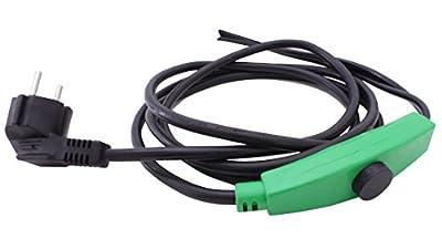 Cerres Frostschutz Heizkabel mit Knopf-Thermostat, 1m 2m 4m 8m 12m 14m 24m 36m 48m, 230V, Heizleitung Zum Schutz von Wasserleitungen und Weidetränken von Cerres auf Du und dein Garten
