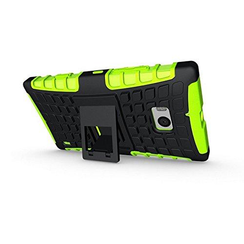 Etui Protektor Nokia Lumia 93016/32/64GB (3G/WIFI/4G/LTE) Verde/Nero Con Stand––Custodia di protezione Silicone con stand Nokia 930–prezzi scoperta accessori tasca XEPTIO Case