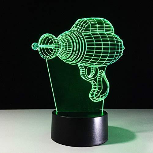 3D Led Taladro Eléctrico Lámpara De Forma Usb 7