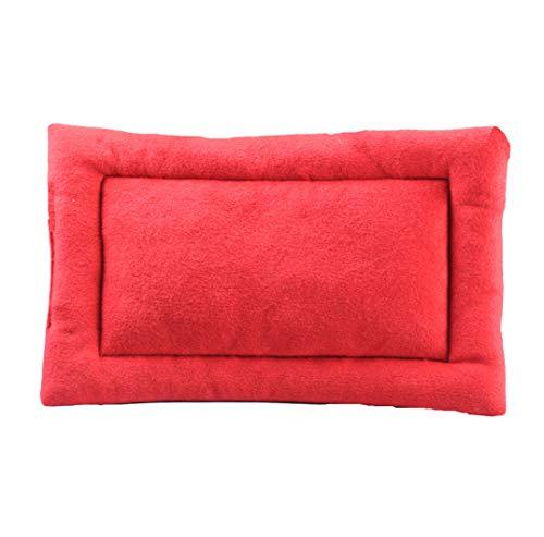 AMURAO Cotton Pet Cushion House Soft Hundematte Warm Puppy Blanket Solid Fleece Lounger Bett für kleine, mittelgroße Hunde -