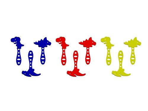 3DREAMS 3DreamsDesign 9er Set Joghurt-Selbstmacheis-Stäbchen Eissticks Dinos bunt EIS Sticks Eisstäbchen ideal für Kinder-Geburtstage DIY EIS am Stiel aus Bio-Kunststoff Made in Germany