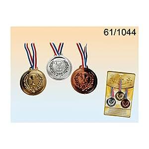 Fausses médailles en plastique - Médaille avec ruban - Or, argent et bronze - Compétition, jeux, JO