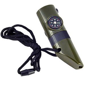 BKAUK Militaer Art Notpfeife ueberleben Installationssatz Kompass Thermometer LED