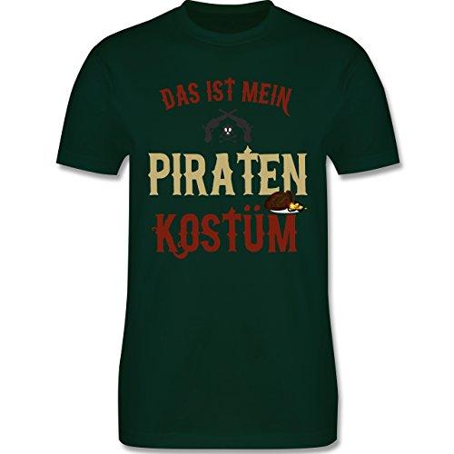 Karneval & Fasching - Das ist mein Piraten Kostüm - 4XL - Dunkelgrün - L190 - Herren T-Shirt (Kostüme Piraten Grüne)
