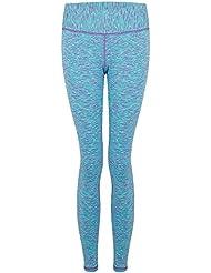 Ladies Running Leggings - Blue Space Dye - 16
